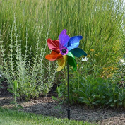 In the Breeze Rainbow Sparkle Pinwheel Spinner, 30cm