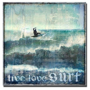 Live Love Surf by Charlie Carter Custom Gallery-Wrapped Canvas Giclee Art (Ready to Hang)