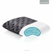 Z Shredded Cooling Gel Memory Foam Pillow by Malouf with Soft Bamboo Cover - Travel Size