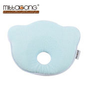 Mittagong Baby Infant Head Rest Prevent Flat Memory Foam Pillow,Blue
