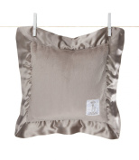 Little giraffe Luxe Pillow with Satin Border Flax