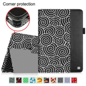 Fintie iPad Air 2 Case - [Oriental Breeze Series] Folio Stand Smart Cover with Auto Sleep / Wake Feature for iPad Air 2 (iPad 6) 2014 Model, Lazy Bull's Eye Black