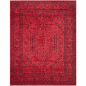 Safavieh Adirondack Collection ADR108F Red and Black Area Rug, 2.4m by 3m