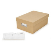 Darice 19cm by 10cm by 28cm Photo Storage Box with Plain Tan Paper Covering