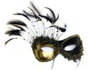 Transfixed Black Gold Women's Masquerade Mask