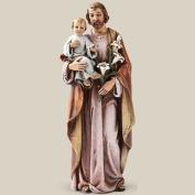 Catholic Gift 15cm Stone Resin Saint St Joseph with Jesus Christ Child Home Chapel Decoration