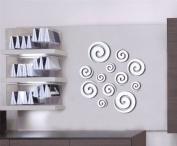 DH LLC 3D Shining Acrylic Mirror Wall Sticker Decoration Decor