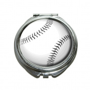 Baseball Compact Purse Mirror