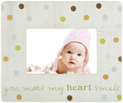 C.R. Gibson Treasured Tabletop Photo Frame by Sandra Magsamen, You Make My Heart Smile