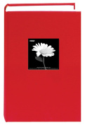Fabric Frame Cover Photo Album 300 Pockets Hold 4x6 Photos, Apple Red