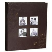 Kleer-Vu Photo Embroidery Leather Collection, Holds 500 10cm x 15cm Photos, 5 Per Page - Brown.