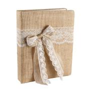 Ivy Lane Design Country Romance Wedding Memory Book, Ivory
