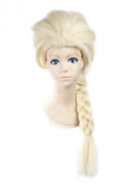 """LOUISE MAELYS 26"""" 65cm Gold Long Braided Pigtail Anime Cosplay Fancy Party Costume Full Wigs"""
