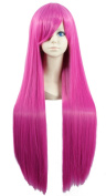 "LOUISE MAELYS 31"" 80cm Long Straight Wig Anime Party Hair Cosplay Costume Fuchsia"