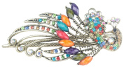 niceeshop(TM) Vintage Crystal Peacock Hair Clips Hairpins for Hair Clip,Coloful