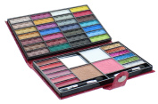 Beauty Revolution 43 Colour Makeup Purse With 28 Eyeshadow 1 Blush 1 Press Powder 6 Glitter 6 Lip Gloss 1 Bronzer All In One Foldable Palette