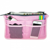 Bag Organiser Purse Insert Handbag Organiser Travel Bag, Pink