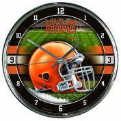 Nfl Football Team Chrome Wall Clock