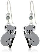 Sienna Sky Silvery Koala Bear Drop Earrings 1757