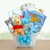 Pooh Bear Baby Gift Basket for Boys
