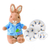 Peter Rabbit Beatrix Potter Baby Gifts Dinnerware Set and Stuffed Animal