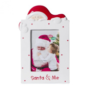 C.R. Gibson Ceramic Tabletop Photo Frame, Gibby and Libby/Santa and Me