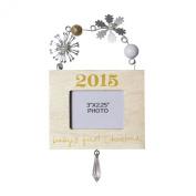 C.R. Gibson Treasured Mini Frame Ornament, Baby's First Christmas