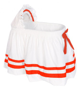 Baby Doll Bedding Modern Hotel Style Ii Bassinet Skirt, Orange