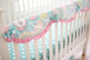 My Baby Sam Baby Crib Rail Cover, Pixie/Aqua
