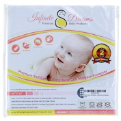 Premium Baby Crib Mattress Pad Cover - High Quality Breathable Soft Cotton Terry Fabric - Free 2 year Product Replacement Guarantee - Waterproof Materials Protect Child's Bed Against Leaky Nappies and Bottles - Hypoallergenic Design Keeps Infant Safe f ..