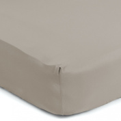 Sealy Therma-Fresh Crib Sheet, Mocha Beige