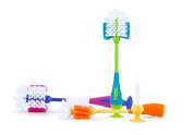 Nuby 2 in 1 Bottle and Nipple Cleaning Brush with Suction Base,