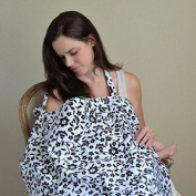b. baby boutique Nursing Cover Privacy Cover Black and White Floral