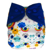 Charcoal Bamboo All In One Cloth Nappy with Pocket, Sun