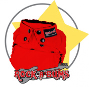 Rock-a-Bums 5-in-1 One Size Cloth Nappy Pack-Snaps, Red