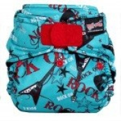 Rock-a-Bums 5-in-1 One Size Cloth Nappy Pack-Velcro, Blue Velvet