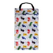 Large Hanging Wet Dry Bag for Cloth Nappies or Laundry, Dinosaur