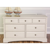 Mia Moda Double Drawers Dresser, Antique White