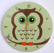 HH Baby Boutique Design Nursery Owl Wall Clock, Owl Wall Hanging Clock, Nursery Owl Wall Clock