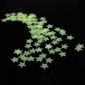 3cm 100PCS Fluorescent Glow Star Wall Sticker by ANTS