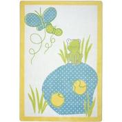 Joy Carpets Kid Essentials Infants & Toddlers Polka Dot Pool Rug, Multicoloured, 0.9m x 1.5m