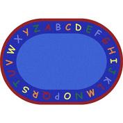 Joy Carpets Kid Essentials Early Childhood Oval New Beginnings Rug, Multicoloured, 1.5m x 2.1m