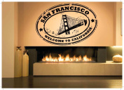 Wall Room Decor Art Vinyl Sticker Mural Decal Country State City San Francisco California Stamp AS1854
