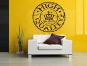Wall Room Decor Art Vinyl Sticker Mural Decal High Quality Crown Stamp AS1842