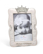 DEMDACO Crown Photo Frame, Always A Princess, 10cm x 15cm