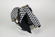 BayB Brand Car Seat Canopy - Black Chevron