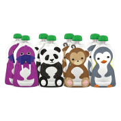Squooshi Reusable Food Pouch - Large - 130ml - 8 ct