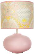Dena Lily Lamp Base and Shade, Pink/Green