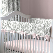 Pink and Grey Traditions Crib Rail Cover