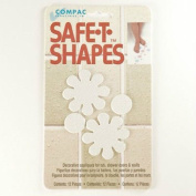 Safe-t-shapes White Daisy Safety Applique - Anti-slip Bath Tub Shower Sticker
